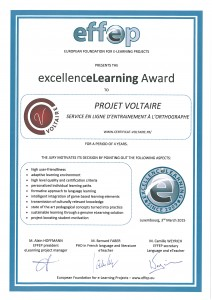 EFFEP excellenceLearning Award