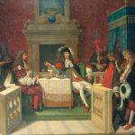 Tableau de Ingres, Louis XIV et Molière déjeunant à Versailles