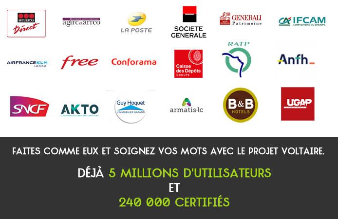 Slide 12 Projet Voltaire pour les entreprises