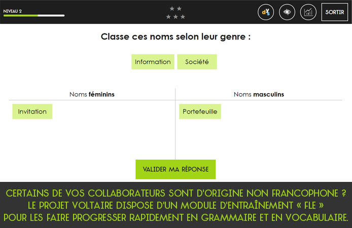 Slide 9 Projet Voltaire pour les entreprises