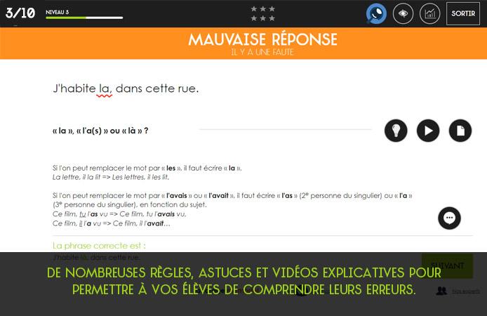 Slide 3 Projet Voltaire pour les établissements de l'enseignement secondaire