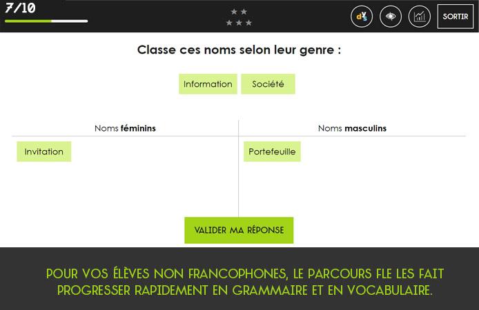 Slide 7 Projet Voltaire pour les établissements de l'enseignement secondaire