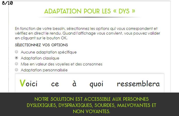 Slide 8 Projet Voltaire pour les établissements de l'enseignement secondaire
